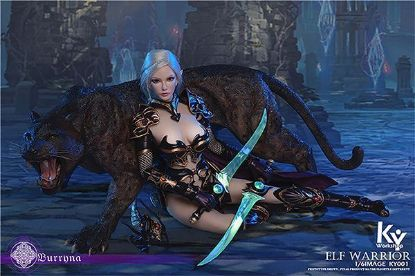 Picture of ACE Toyz Elf Female Soldier Burryna Black Deluxe Edition
