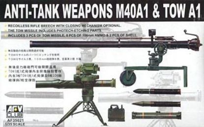 AFV 1/35 Anti-Tank Weapons M40A1 & TOW A1 Model Kit