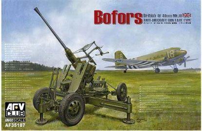 AFV 1/35 British Version Of BOFORS 40MM MK III AA Gun Model Kit