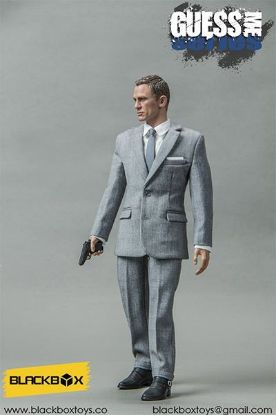 Black Box Toys Guess Me Series Agent James in Grey