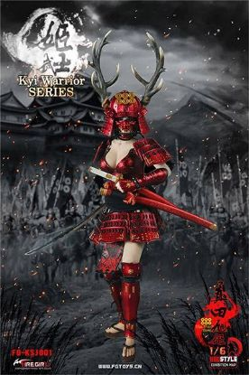 Fire Girl Toys Warring States of Japanese Women Warrior Suit Sanada Xu Kyi Red
