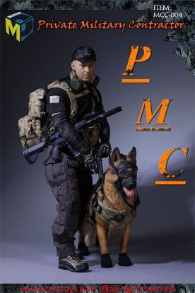 MC Toys Private Military Contractor With K9 German Shepherd Dog 1/6