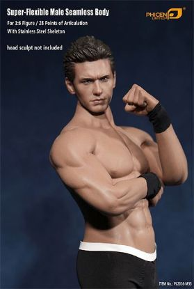 Phicen Limited Seamless Male Figure Body with Stainless Steel Skeleton
