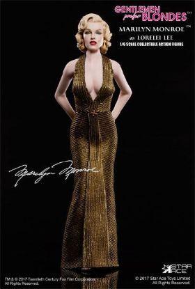 Star ACE Marilyn Monroe Lorelei Lee Gold Dress 1/6 Scale