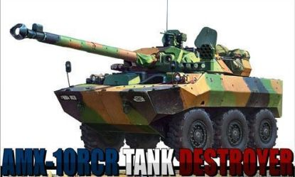 Tiger Models 1/35 French AMX-10RCR Tank Destroyer w/Free Cute Plane Model Kit