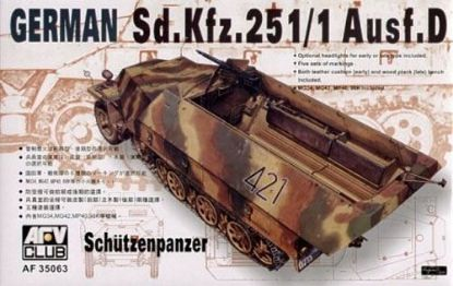 AFV 1/35 SDKFZ 251D/1 Halftrack Schutzen Panzer Model Kit