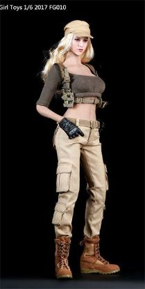 Fire Girl Toys Female Tactical Shooter Combat Uniform Army Green Accessory