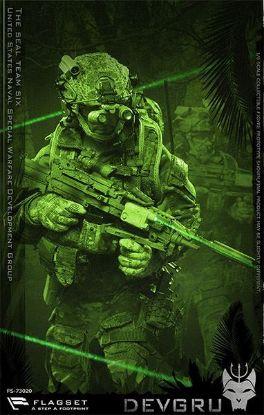 Flagset US Seals Team 6 DEVGRU Jungle Dagger