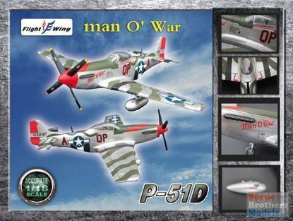 Flight Wings 1/18 P-51D WWII USAF 4th Fighter Group Man O War