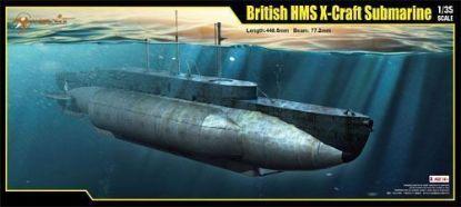 Merit 1/35 British HMS X-Craft Submarine Model Kit
