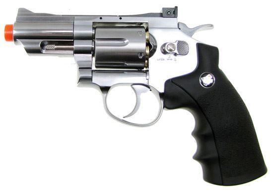 """Wingun Full Metal 2.5"""" CO2 Revolver  Silver"""