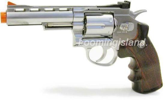 """Wingun Full Metal 4"""" CO2 Revolver Silver"""