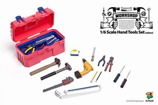 ZC World Hand Tools Set Colour 1/6 Scale