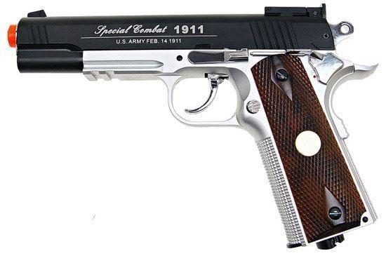 Wingun Combat 1911 Co2 Non-blowback Pistol Black & Silver